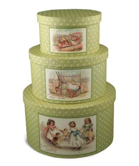 Polka Dot Nesting Boxes, Set of 3 by Bethany Lowe Designs