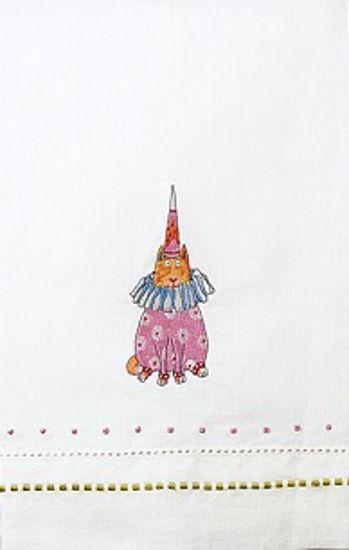 Pepe Polka Dot Cat Tea Towel by Patience Brewster