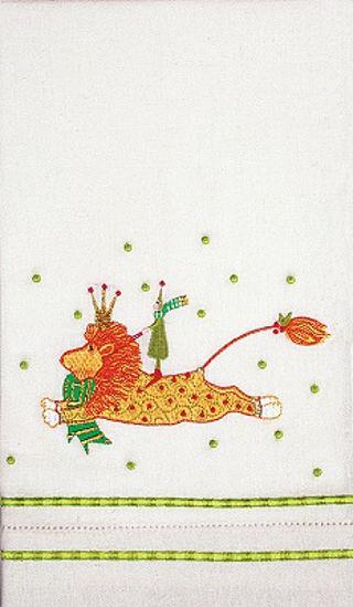Joyful Lion Tea Towel by Patience Brewster