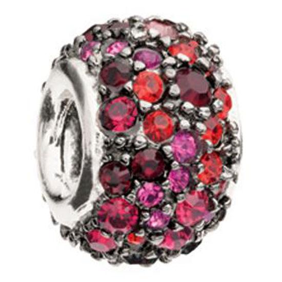 Jeweled Kaleidoscope-Red and Black Swarovski by Chamilia
