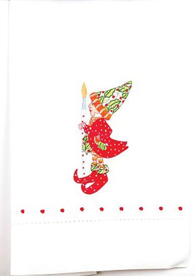 Vixen's Elf Tea Towel by Patience Brewster