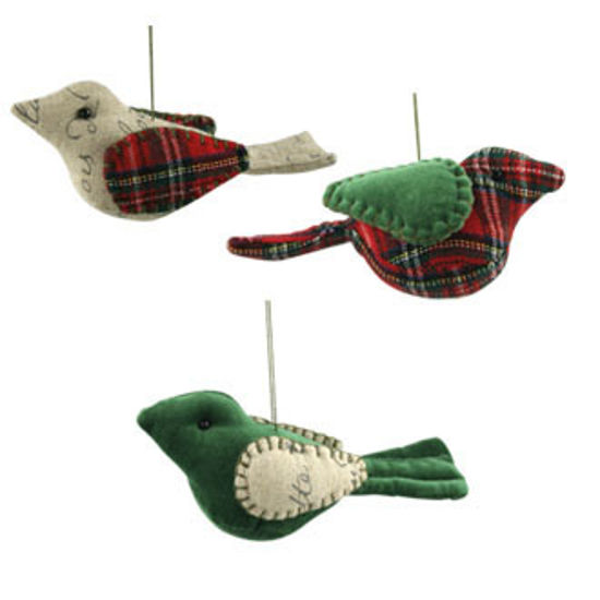 Shabby Chic Bird Ornaments by Bethany Lowe Designs