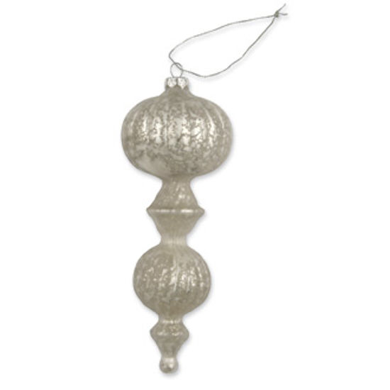 Pearl Glass Ribbed Finial by Bethany Lowe Designs