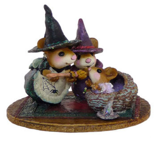 Baby Witch's First Broom M-373b by Wee Forest Folk