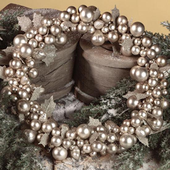 "Silver Mercury Glass Wreath 18"" by Bethany Lowe"