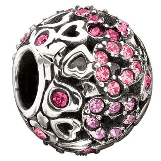 Captured Hearts; Pink Swarovski by Chamilia