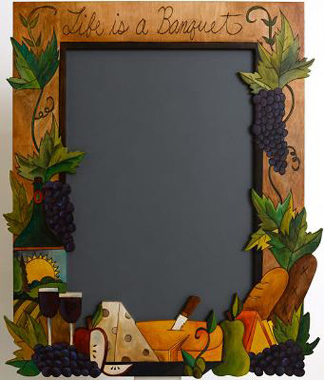 Cut Out Chalkboard by Sticks