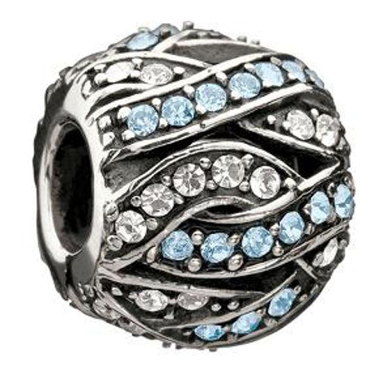 Entwined Jewels-Clear & Blue Swarovski by Chamilia