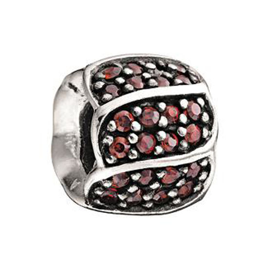 Jeweled Petals-Red CZ by Chamilia