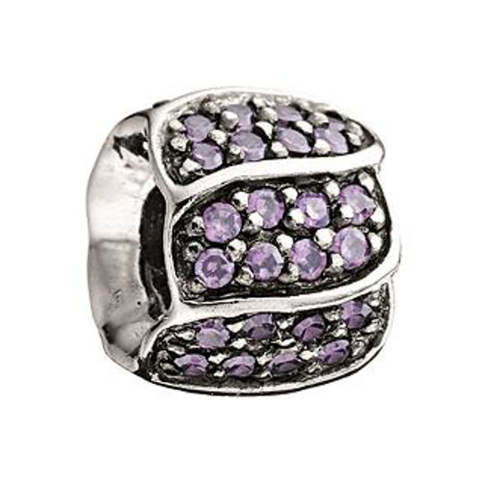 Jeweled Petals-Purple CZ by Chamilia