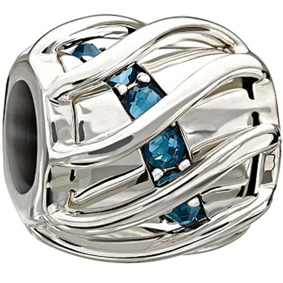 Enchanting Spiral Blue Swarovski by Chamilia
