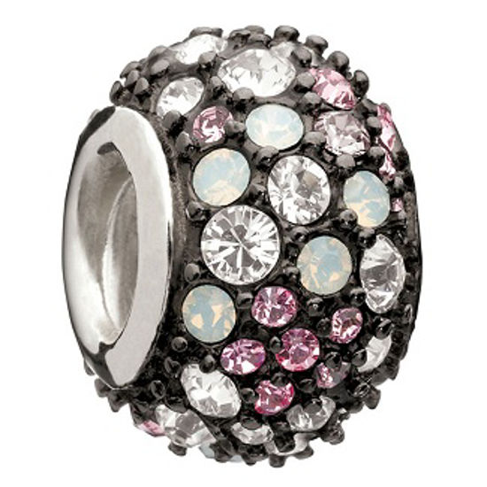 Jeweled Kaleidoscope-Pink & Black Swarovski by Chamilia