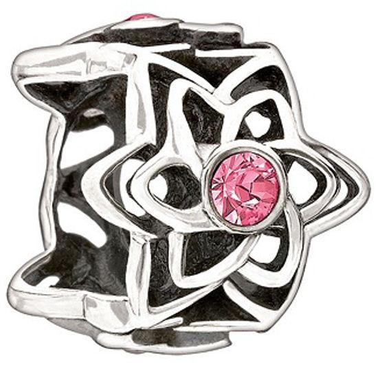 Dahlia-Pink Swarovski by Chamilia