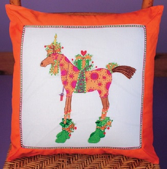 Maisy Horse Pillow by Patience Brewster