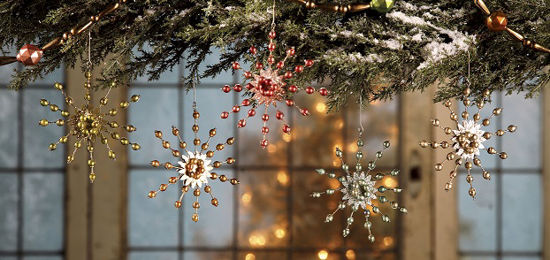 Mini Pastel Starburst Ornament Set by Bethany Lowe Designs
