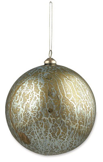 Large Antique Blue Sphere Ornament by Bethany Lowe Designs