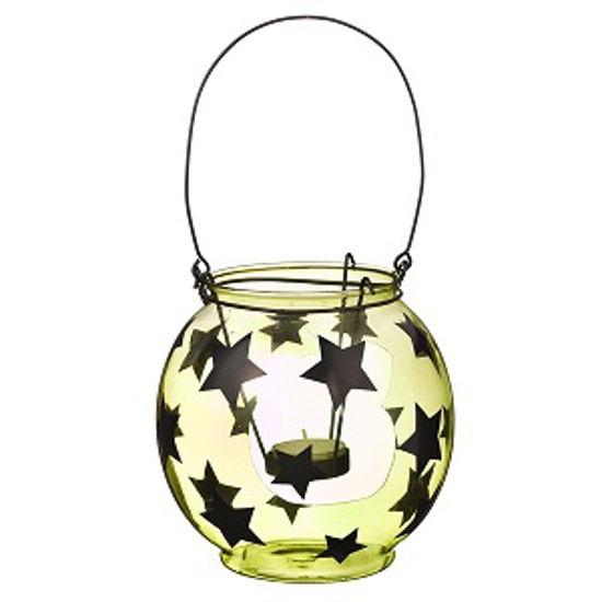 Green Glass Star Lantern by Grasslands Road