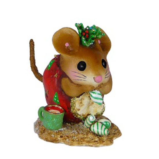 Christmas Nibble Mouse NM-1a (Red) by Wee Forest Folk®