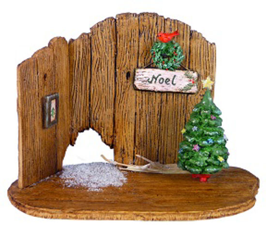 Christmas Barn Door Backdrop NM-4a by Wee Forest Folk®