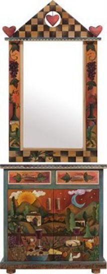 Buffet with Custom Mirror by Sticks