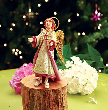 Reverent Angel, LLS Nativity Angel Ornament by Patience Brewster