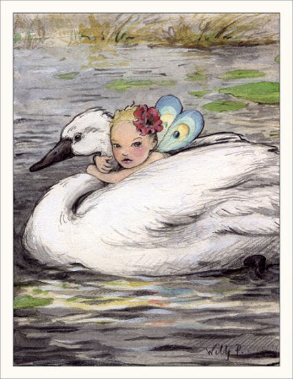 Swan Note Card by Wee Forest Folk®