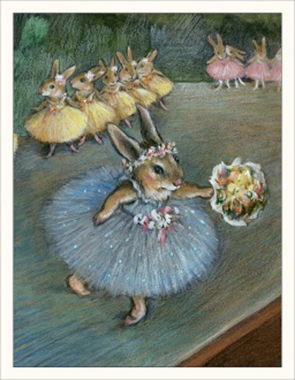 Degas Bunny Note Card by Wee Forest Folk®