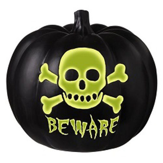 Beware Glow In The Dark Pumpkin by Grasslands Road