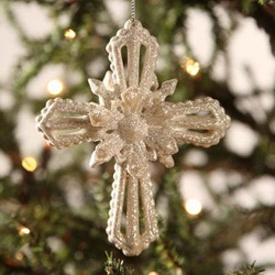 Platinum Cross Ornament by Bethany Lowe Designs