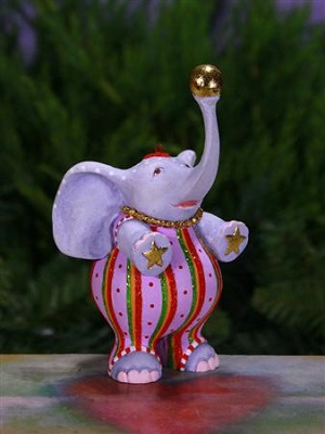 Anika Elephant Ornament by Patience Brewster