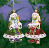 Candlelight Elves Glass Ornaments by Patience Brewster