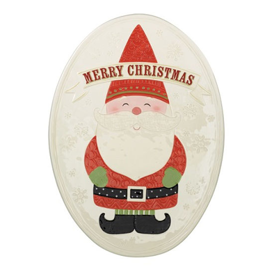 Merry Christmas Gnome Platter by Grasslands Road