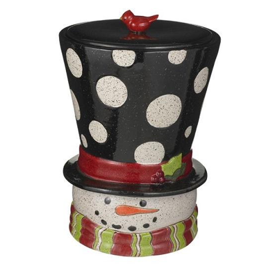 Snowman Head Cookie Jar by Grasslands Road