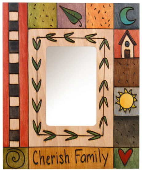 Cherish Family Small Wood Picture Frame by Sticks