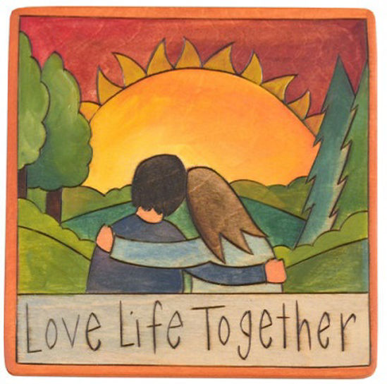 Love Life Together Small Wood Plaque by Sticks