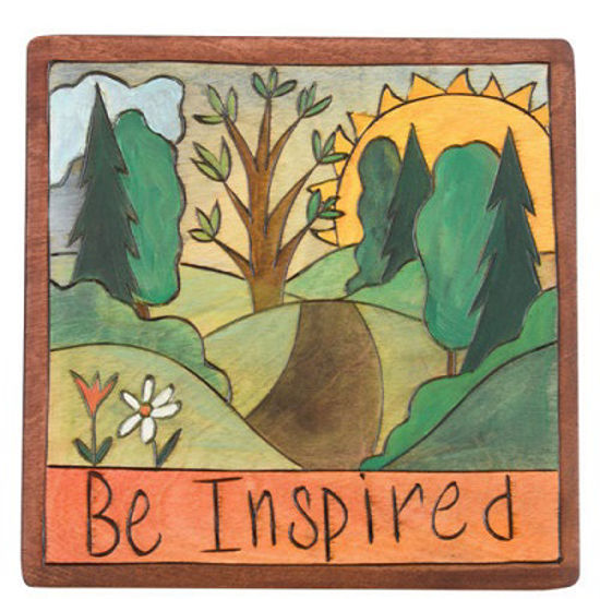 Be Inspired Small Wood Plaque by Sticks