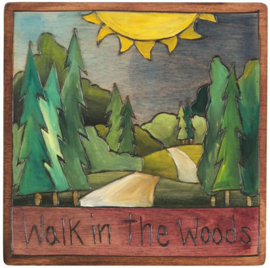 Walk in the Woods Plaque by Sticks