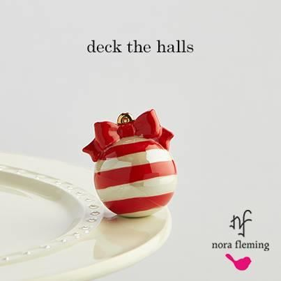 Deck the Halls (Red Ornament) Mini by Nora Fleming