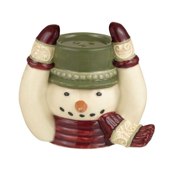 Snowman Stackable Salt & Pepper Shaker Set by Grasslands Road