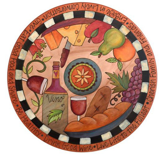 Wine and Cheese Lazy Susan by Sticks