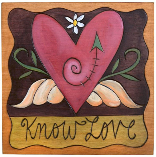 Know Love Small Wood Plaque by Sticks