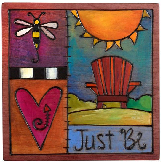 Just Be Small Wood Plaque by Sticks