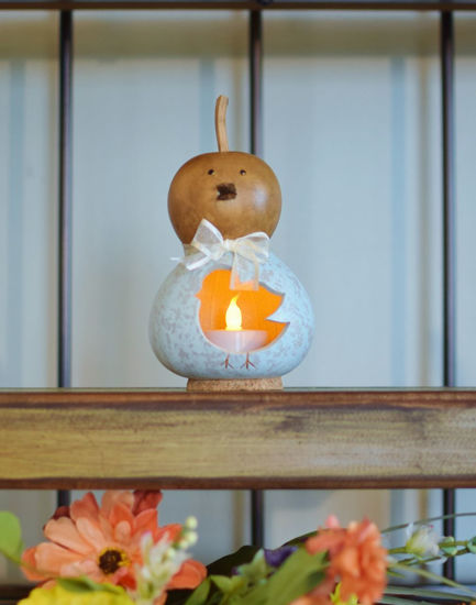 Natalie Chick, Small Blue by Meadowbrooke Gourds