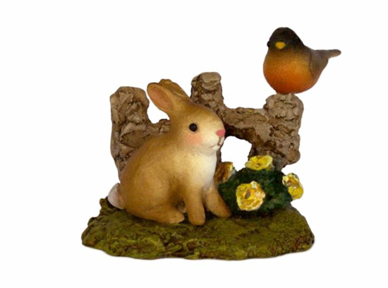 Spring Bunny & Robin A-37 by Wee Forest Folk®