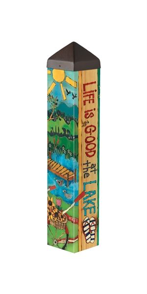 "Lake Welcome 20"" Art Pole by Studio M"