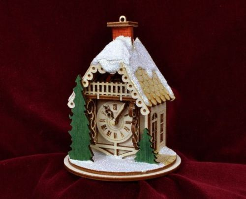 Alpine Clock Shop Ornament by Ginger Cottages