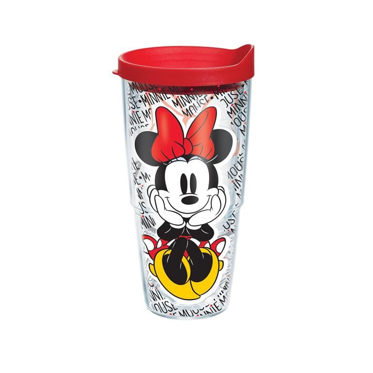 Disney - Minnie Mouse Name Pattern Wrap 24oz Tumbler by Tervis