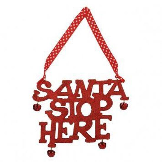 Santa Stop Here Sign by Grasslands Road