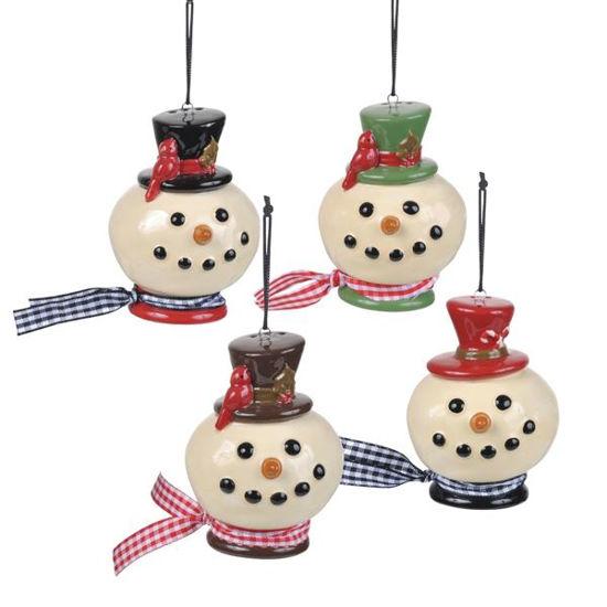 Snowman Head Salt & Pepper Shakers by Grasslands Road