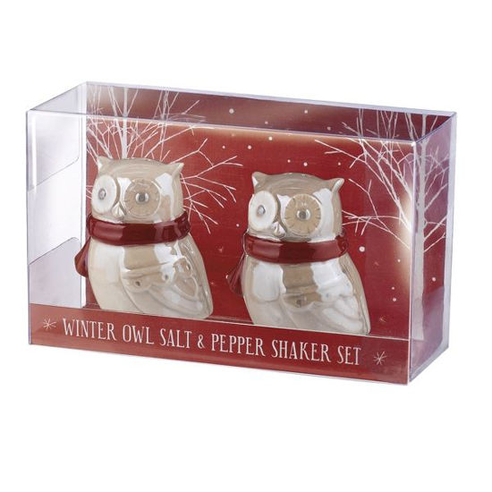 Northern Lights Owl Salt & Pepper Shaker Set by Grasslands Road